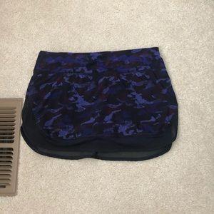 EUC💜Purple Camo Lululemon Skirt